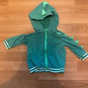 Cat and Jack dinosaur hoodie size 12 months